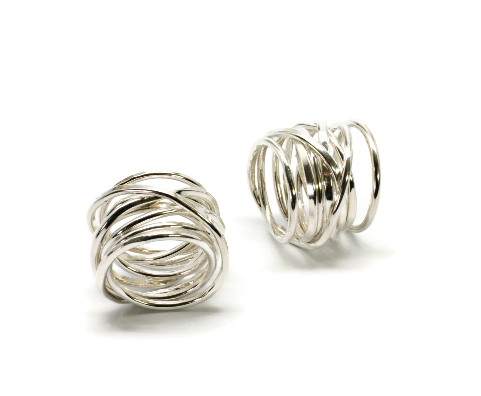 Entwined Sterling Silver Wire Ring – Kathleen Dennison